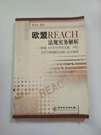 欧盟REACH法规实务解析:欧盟《关于化学品注册、评估、许可与限制的法规》应对指南