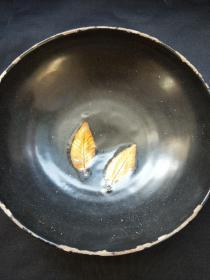 吉州窑树叶黑釉碗