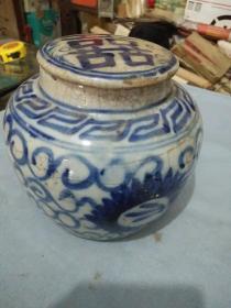 明代青花罐