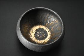 (P4513)《鎏金茶具小茶洗杯》一件 功夫茶道建水配件
