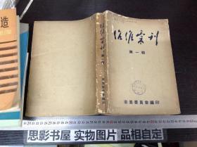 治淮汇刊(第一辑,创刊号)【内有题词和照片】