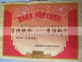 奖状——青年建设社会主义红旗手——共青团昌潍汽车运输公司委员会
