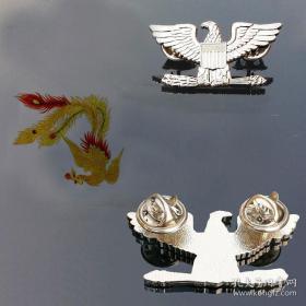 极品顶级美国上校军衔银色徽章不掉色可佩带西服上质量上乘堪比原品值得佩戴和收藏
