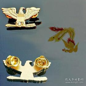 极品顶级美国上校军衔金色徽章不掉色可佩带西服上质量上乘堪比原品值得佩戴和收藏