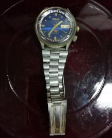 ORIENT(双狮牌全自动彩色旋转盘双日历手表)日本原装