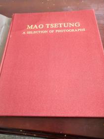 毛泽东主席照片选集 英文版 封皮有塑料薄膜 有盒套 品好