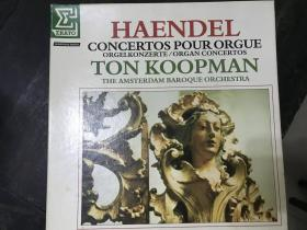 黑胶原版唱片4张装HAENDEL CONCERTOS POUR ORGUE