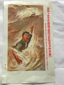 《毛主席的红卫兵-向革命青年的榜样金训华同志学习》画页-逸中(绘)