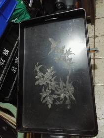 漆畫類漆器~花鳥盤