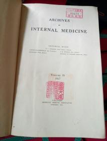 南满洲沈铁大连医院馆藏医学史料 archives of  internal medicine 1937