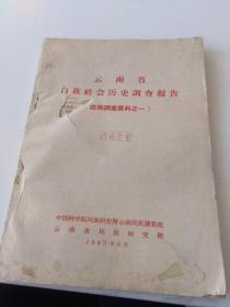 云南省白族社会历史调查报告 白族调查资料之一 封面有个洞如图