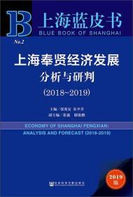 上海奉贤经济发展分析与研判(2019版2018-2019)/上海蓝皮书