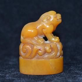 古董 金石篆刻 寿山石瑞兽闲章收藏
