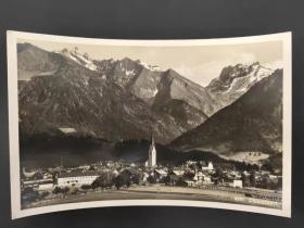 老 明信片 德国 纳粹 万字 邮戳 实寄 1935年