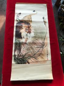 3开年画狮   虎2张