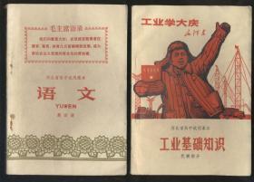 河北省高中試用課本 語文 第四冊(1971年1版2印)有些水漬。2019.3.23日上