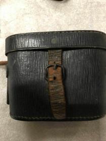 民国初期法国生产的铜质望远镜【镜头清晰,带原盒】。。。