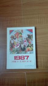 1987年历画月历年历卡缩样