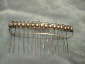 清代银制头梳