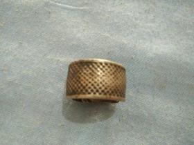 清代银白铜顶针