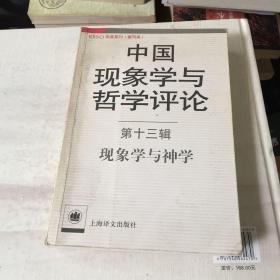 中国现象学与哲学评论(第13辑):现象学与神学