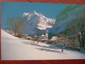 瑞士风光明信片1一张,(空白)