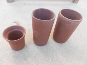 三个紫砂杯