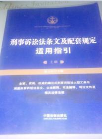 刑事诉讼法条文及配套规定适用指引--上册