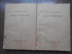1988年【中科院南京地理所图书馆,馆藏中,日文图书目录,2本】油印本