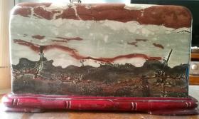 長江清江三峽奇石畫面石天然原石國畫石精美收藏珍品