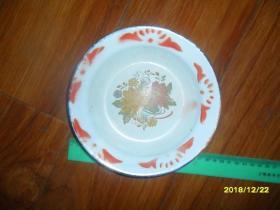 早期老搪瓷盘