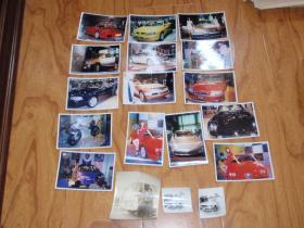 三张老汽车的黑白照片,2000年车展,老的汽车和车模照片15张合合售!L7