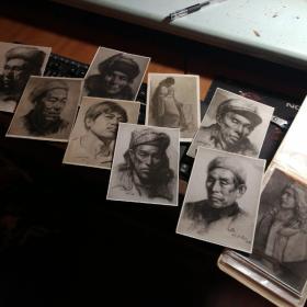 素描作品照片14张合售