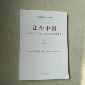 全国法院系统干部学习教材·法治中国:学习习近平总书记关于法治的重要论述