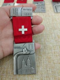 徽章 奖章 纪念章 瑞士 射击比赛 1998