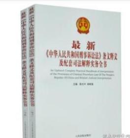 正版 中华人民共和国刑事诉讼法条文释义及配套司法解释实务全书    9D15e