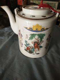 抗美援朝努力多生产江西人物茶壶