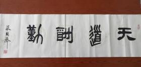 """著名古玩鉴定家(蔡国声)老师, 蔡国声,男,1941年出生,浙江定海人。中国近代书法家,文物鉴定专家,中国书法家协会会员。这是一个中国文物鉴定界内响当当的名字,他从事文物、古玩鉴定40余载,出版《珍宝鉴别指南》、《古玩与收藏》、《蔡国声隶书阿房宫赋》、《过眼云烟录——蔡国声谈古玩鉴赏》等书二十余本,在文物鉴定界被誉为""""高产专家""""。尺寸138*35"""