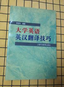 大学英语英汉翻译技巧、英汉翻译高分指导(两册合售)