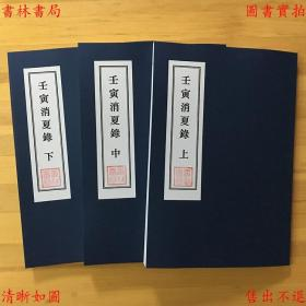 壬寅消夏录-(清)端方撰-手稿本缩印本(复印本)