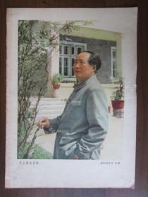 建国初期16开宣传画:毛主席在成都(1958年第11期中国青年杂志赠)