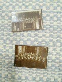 老照片专辑016:民国袖珍老照片两张:民国三十年桂中合唱队,尺寸:3.8*2.6
