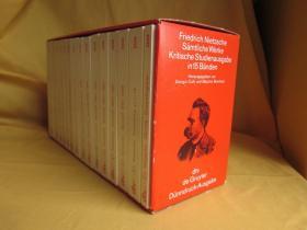 德国原版 德文 德语 Friedrich Nietzsche, Sämtliche Werke Kritische Studienausgabe in 15 Bänden 尼采文集 全套15卷 科利版