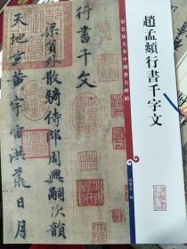 彩色放大本中国著名碑帖·赵孟頫行书千字文