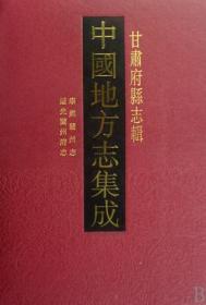 甘肃府县志辑(中国地方志集成 16开精装 全49册)
