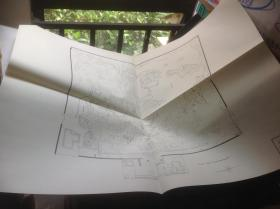 日本有名庭园实测图纸 第五组 11-12号 涉成园 + 净瑠璃寺庭园 共两张图纸