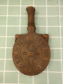 欧洲 木雕 酒壶 水壶 全长22cm 直径12.5cm