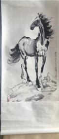 中堂画 卷轴画 古画 做旧画 挂画装饰画 书法绘画 马