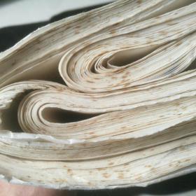 【老宣纸】 三尺整纸78张,有斑点