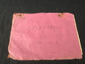 1958年浙江省温州市平阳县吴垟大队党员登记册 一册